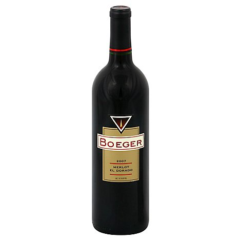 Boeger Merlot Wine - 750 Ml