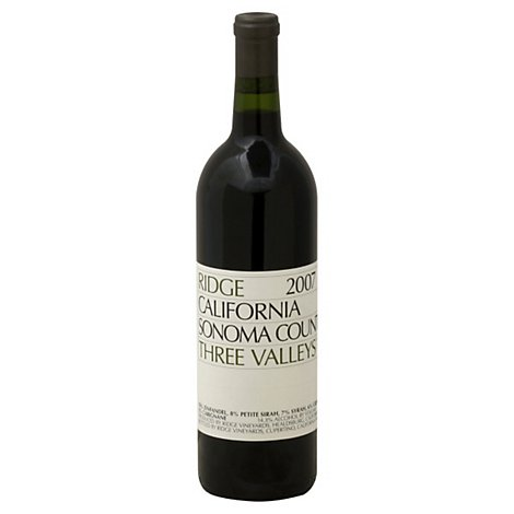 Ridge Sonoma Three Valleys Red Wine - 750 Ml