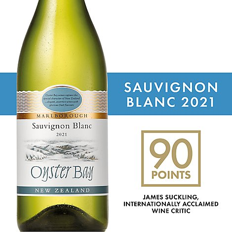 Oyster Bay Wine Sauvignon Blanc Marlborough New Zealand - 750 Ml