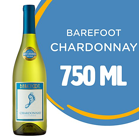 Barefoot Cellars Chardonnay White Wine - 750 Ml