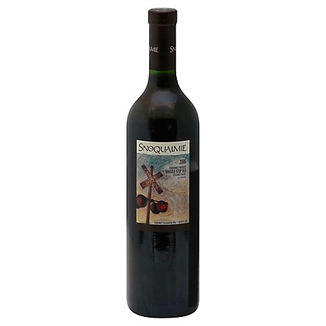 Snoqualmie Wine Red Cabernet Merlot - 750 Ml