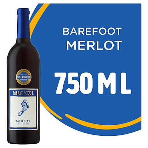 Barefoot Cellars Merlot Red Wine - 750 Ml