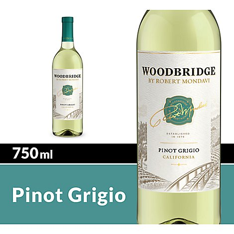 Woodbridge by Robert Mondavi Wine Pinot Grigio White - 750 Ml