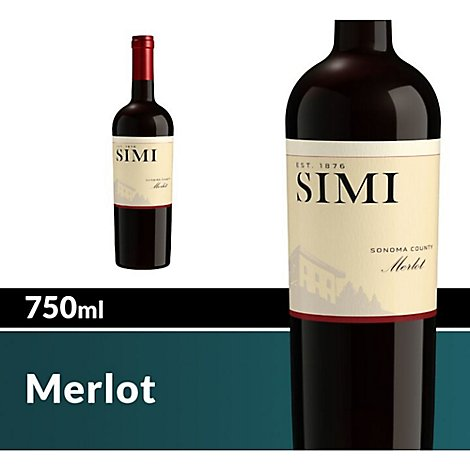 SIMI Wine Red Merlot Sonoma County - 750 Ml