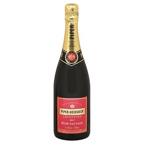 Piper Heidsieck Wine Champagne Brut Rose Sauvage - 750 Ml