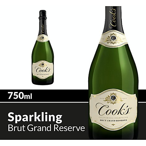 Cooks California Champagne Wine Sparkling Grande Reserve White - 750 Ml