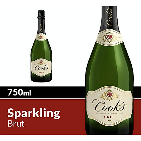 Cooks California Champagne Brut White Sparkling Wine - 750 Ml