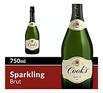 Cooks California Champagne Wine Sparkling White Brut - 750 Ml