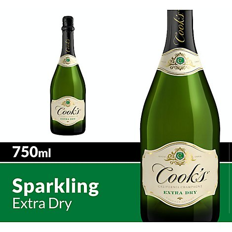Cooks California Champagne Sparkling Wine White Extra Dry - 750 Ml