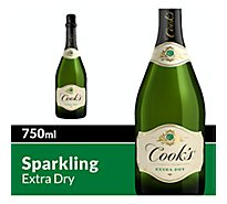 Cooks California Champagne Wine Sparkling White Extra Dry - 750 Ml