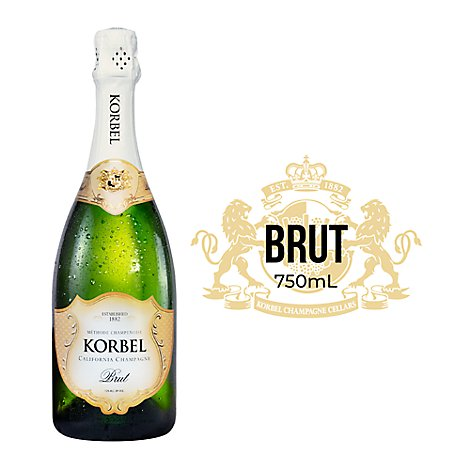 Korbel Champagne California Brut Special Select 24 Proof - 750 Ml