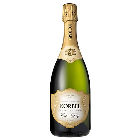 Korbel Champagne California Extra Dry Aloha Shrinkwrap 24 Proof - 750 Ml