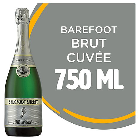 Barefoot Bubbly Brut Champagne Sparkling Wine - 750 Ml