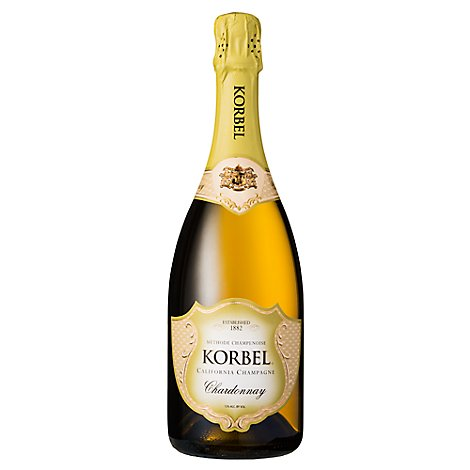 Korbel Champagne California Chardonnay 24 Proof - 750 Ml