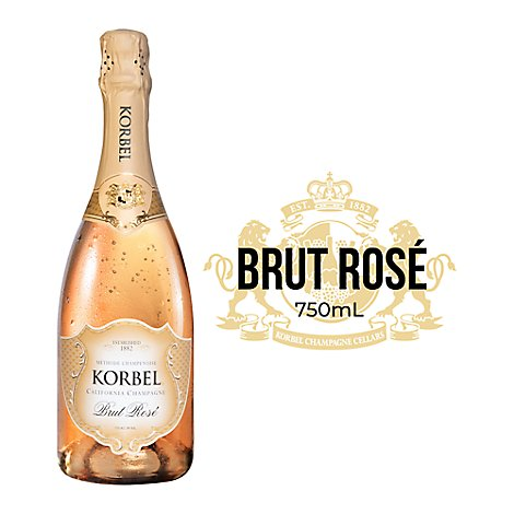 Korbel Champagne California Brut Rose 24 Proof - 750 Ml