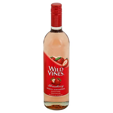 Wild Vines Strawberry White Zinfandel Red Wine - 750 Ml