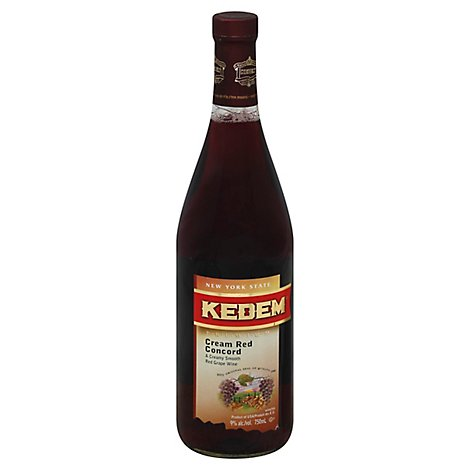 Kedem Cream Red Concord Wine - 750 Ml