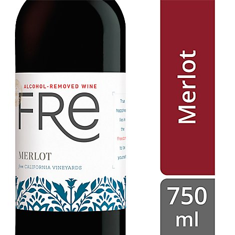 Sutter Home Fre Alcohol Removed Merlot Wine - 750 Ml