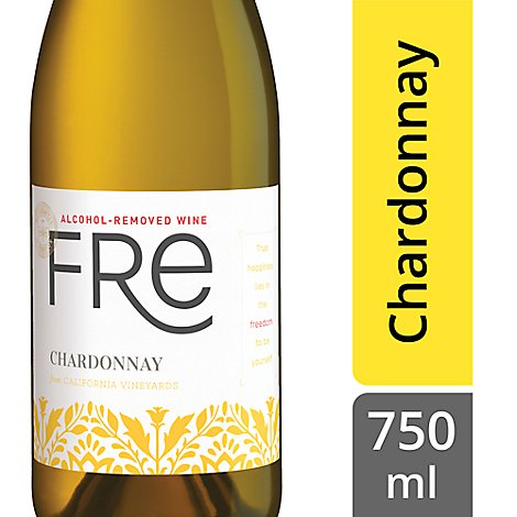 Sutter Home Fre Alcohol Removed Chardonnay - 750 Ml