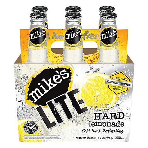 Mikes Hard Beverage Cool Hard Refreshing Lemonade Lite Bottle - 6-11.2 Fl. Oz.