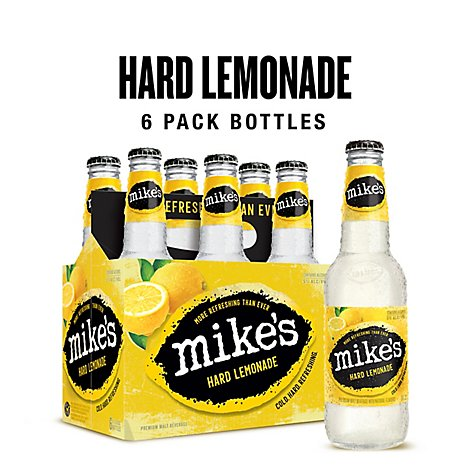 Mikes Hard Beverage Cool Hard Refreshing Lemonade Bottle - 6-11.2 Fl. Oz.