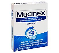 Mucinex Expectorant Chest Congestion 12 Hours Relief Tablet - 24 Count