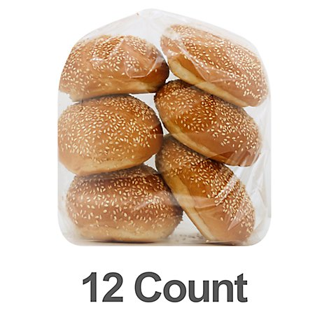 Bakery Rolls Dinner With Sesame Seeds - 12 Count