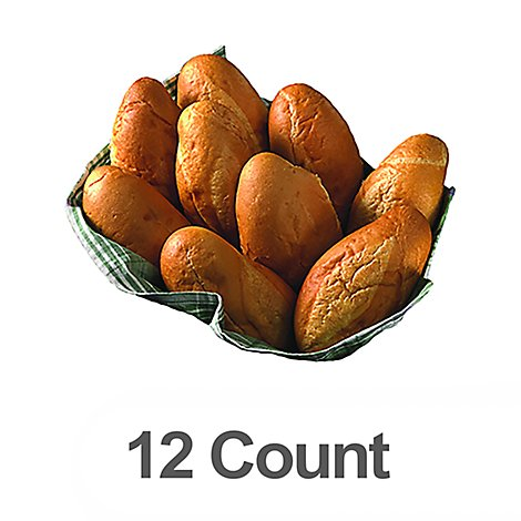 Bakery Rolls Portuguese Sweet - 12 Count