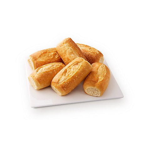Bakery Rolls French Wheat - 6 Count