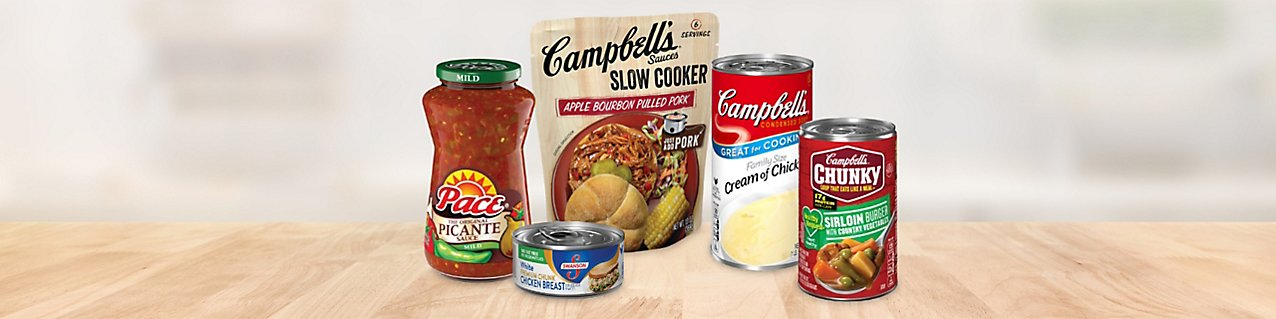 Participating products, Pace  Picante  Sauce Original Mild jar , Campbell's Slow Cooker Sauce Apple Bourbon Pulled Pork pouch