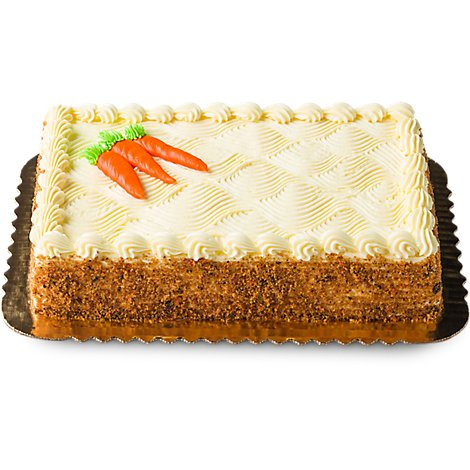 Bakery Cake 1/4 Sheet Carrot Decorated - Each