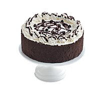 Bakery Cake 1/4 Sheet Chocolate White Iced - Each