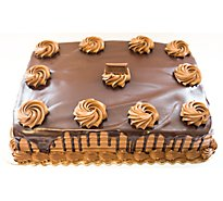 Bakery Cake 1/4 Sheet German Chocolate Dec - Each