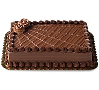 Bakery Cake 1/4 Sheet Chocolate Iced Decorated Each