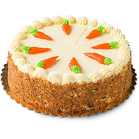 Bakery Cake 8 Inch 1 Layer Carrot - Each