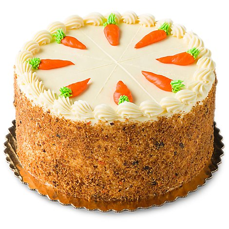 Bakery Cake 8 Inch 2 Layer Carrot - Each