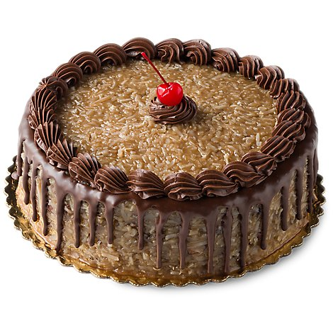 Bakery Cake 8 Inch 1 Layer German Chocolate - Each