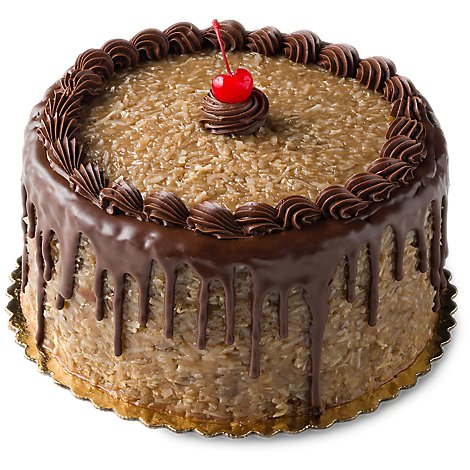Bakery Cake 8 Inch 2 Layer German Chocolate - Each
