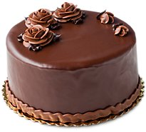 Bakery Cake 8 Inch 2 Layer Chocolate Fudge Iced - Each