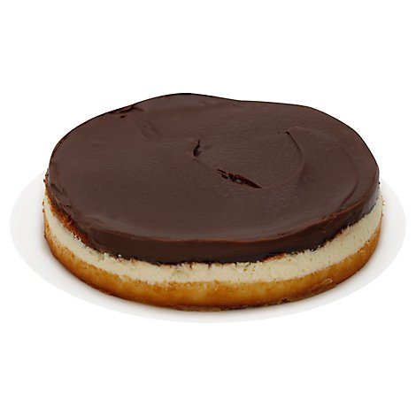 Bakery Cake 8 Inch 1 Layer Boston Cream Peach - Each