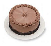 Bakery Cake 8 Inch 2 Layer Chocolate Decorated - Each