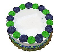 Bakery Cake Decorated 8 Inch 2 Layer White - Each