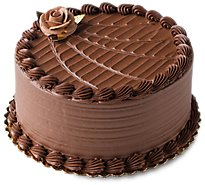 Bakery Cake 8 Inch 2 Layer Chocolate Iced - Unit