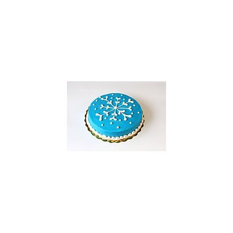 Bakery Cake White 8 Inch 1 Layer White Iced - Each