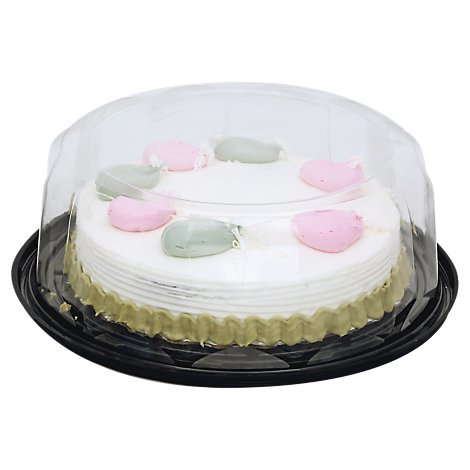 Bakery Cake White 1 Layer White Iced Holiday - Each
