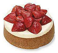 Bakery Cake Cheesecake 7 Inch Fresh Strawberry Top - Each