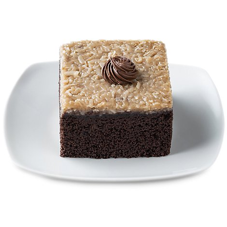 Fresh Baked German Chocolate Slice Cake - Each (920 Cal)