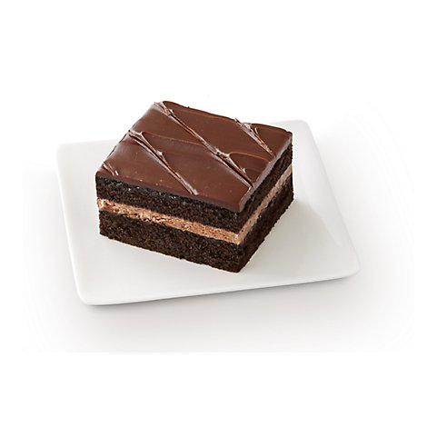 Fresh Baked Chocolate Fudge Iced Slice Cake - Each (780 Cal)