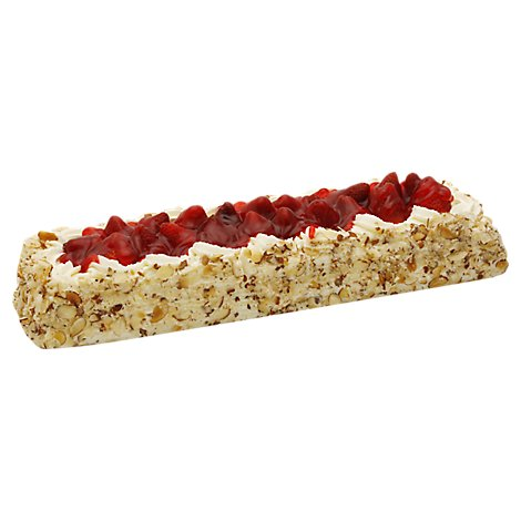 Bakery Cake White Bar Fresh Strawberry Large - Each