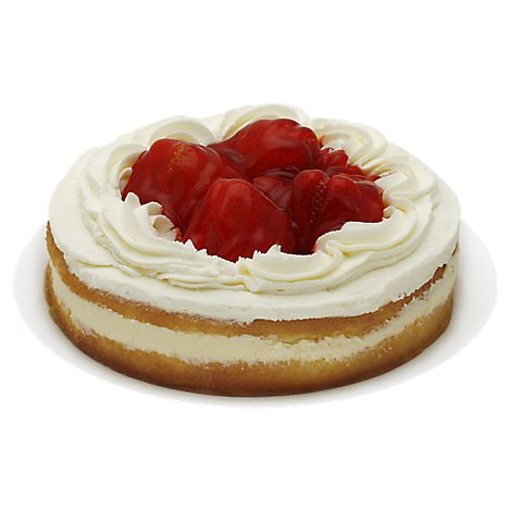 Fresh Baked Cake 8 Inch 1 Layer Boston Cream Fresh Strawberry - Each